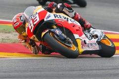 Marc Marquez. Repsol Honda Team. Grand Prix Movistar of Aragón Stock Photos