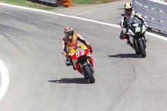 Marc Marquez of Repsol Honda team racing Royalty Free Stock Image