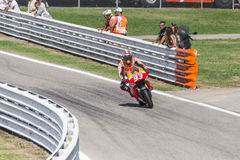 Marc Marquez of Repsol Honda team racing Royalty Free Stock Image