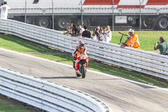 Marc Marquez of Repsol Honda team racing Royalty Free Stock Images