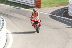 Marc Marquez of Repsol Honda team racing Royalty Free Stock Photos
