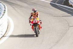 Marc Marquez of Repsol Honda team racing Royalty Free Stock Images