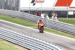 Marc Marquez van het team van Repsol Honda het rennen Royalty-vrije Stock Foto's