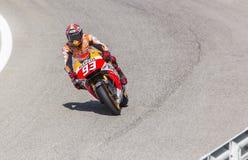 Marc Marquez van het team van Repsol Honda het rennen Royalty-vrije Stock Foto
