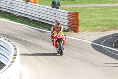 Marc Marquez van het team van Repsol Honda het rennen Stock Foto's