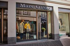 Marc´o Polo store in Bonn, Germany royalty free stock photography