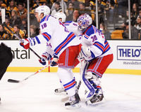 Marc Staal and Henrik Lundqvist Royalty Free Stock Image