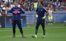 Marc ter Stegen i Claudio bravo FC Barcelone Obraz Stock