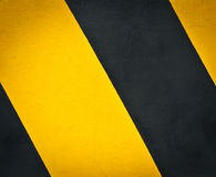 Marcação de estrada amarela e preta Fotos de Stock Royalty Free