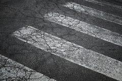 Marcação do cruzamento pedestre Fotografia de Stock