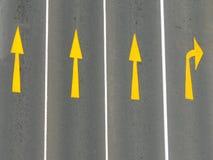 Marcações de estrada Foto de Stock Royalty Free