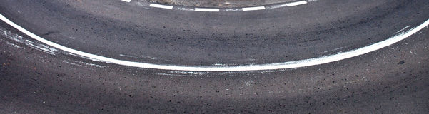 Marcações de estrada Fotos de Stock