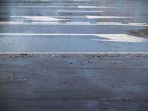 Marcações de estrada Fotografia de Stock