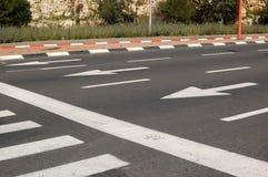 Marcações de estrada Fotografia de Stock Royalty Free
