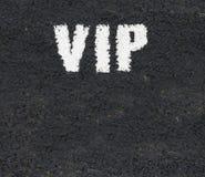 Marcações de estrada do VIP imagem de stock