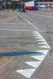 Marcações de estrada frescas Imagem de Stock Royalty Free