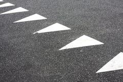 Marcações de estrada triangulares Imagem de Stock