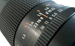 Marcações do tambor de lente Fotografia de Stock Royalty Free