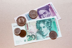Marca alemana, vieja moneda Fotografía de archivo libre de regalías