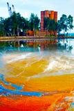 Marca colorida del aceite Imágenes de archivo libres de regalías