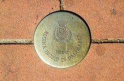Marca conmemorativa 02 de Montecatini Terme Foto de archivo