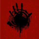 Marca da mão de Grunge Fotografia de Stock