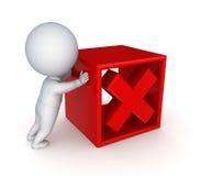 marca da pessoa 3d pequena e da cruz vermelha. Fotos de Stock