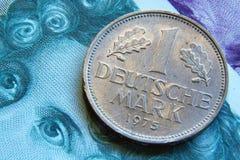 Marca de Alemanha, moeda velha Fotos de Stock