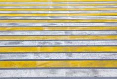 Marca de camino Paso de peatones Foto de archivo