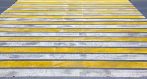Marca de camino Paso de peatones Imágenes de archivo libres de regalías