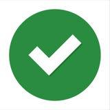 Marca de cotejo plana del icono Fotos de archivo libres de regalías