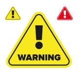 Marca de exclamação do sinal de aviso ilustração stock