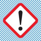 Marca de exclamação, símbolo de advertência do perigo quadrado, ícone do vetor ilustração royalty free