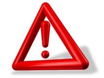 Marca de exclamação vermelha dentro do triângulo ilustração do vetor