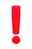 Marca de exclamación Foto de archivo libre de regalías