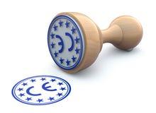 Marca de goma del sello-CE - ejemplo 3d libre illustration