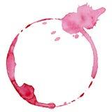 Marca de la copa de vino Fotografía de archivo