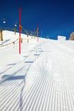 Marca de la cuesta del esquí Imagen de archivo libre de regalías