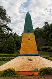 Marca de la frontera del brasilen@o tres Fotos de archivo libres de regalías