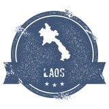 Marca de la república Democratic del ` s de Lao People ilustración del vector