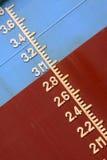 Marca de Plimsoll en la nave Foto de archivo libre de regalías