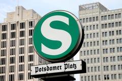 Marca de Potsdamer Platz Fotos de archivo