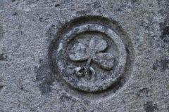 Marca de St Patrick en la piedra, roca de Cashel, Co Tipperary fotos de archivo