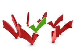 Marca de verificação Imagem de Stock Royalty Free