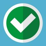 Marca de verificação no círculo Fotografia de Stock