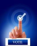 Marca de verificación del dedo del voto foto de archivo libre de regalías