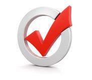 Marca de verificación (trayectoria de recortes incluida) Imagenes de archivo