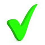 Marca de verificación verde Foto de archivo