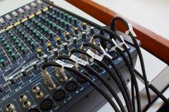 Marca del cable en mezclador Fotografía de archivo