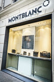 Marca del lusso di Montblanc Fotografie Stock